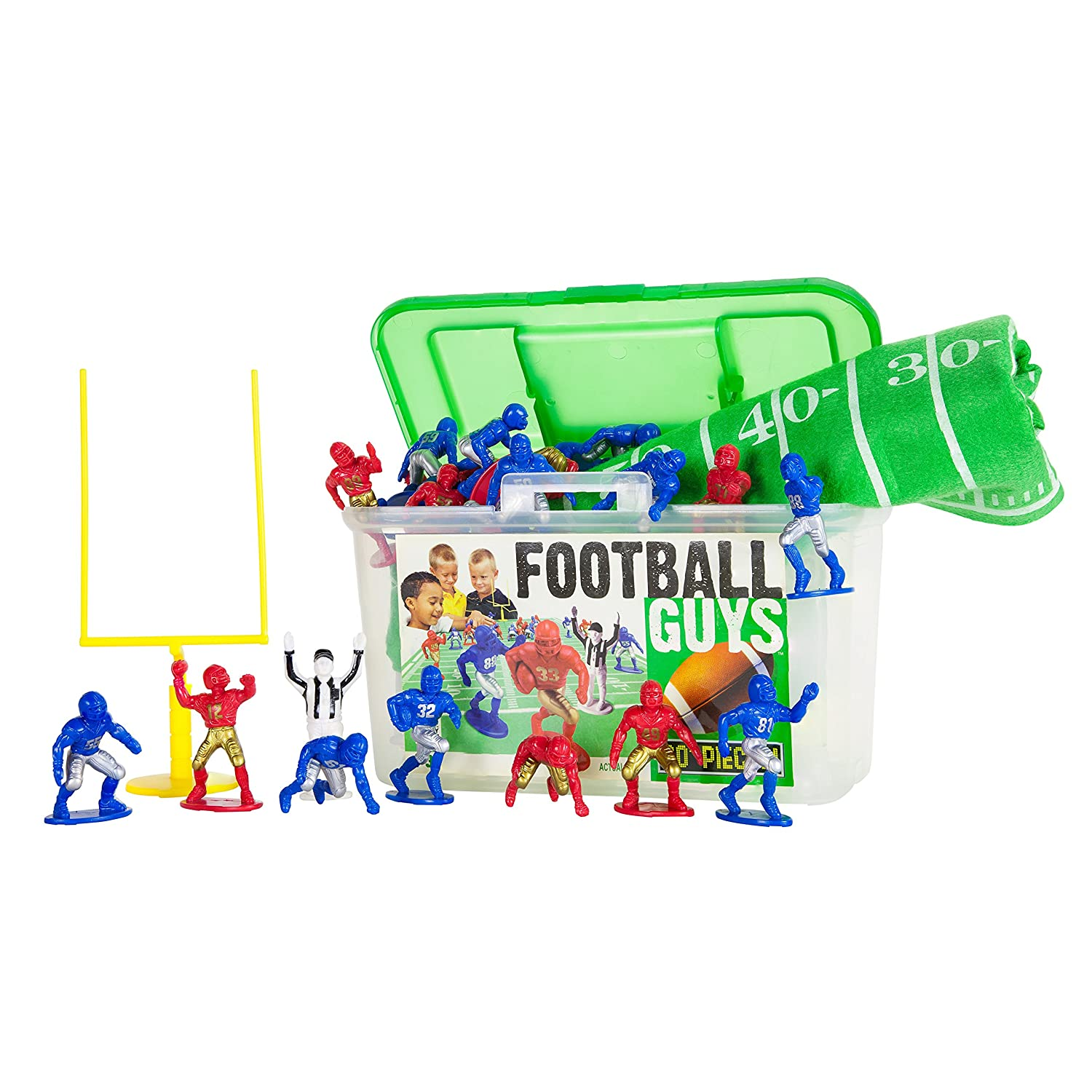 Kaskey Kids Football Guys: Red vs. BlueInspires Imagination with Open-Ended PlayIncludes 2 Full Teams and MoreFor Ages 3 and Up