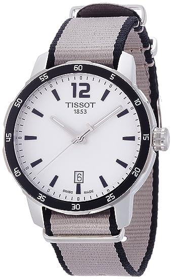 Tissot Reloj Analógico para Mujer de Cuarzo con Correa en Nailon T095.410.17.037.00: Amazon.es: Relojes