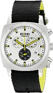 Versus by Versace Mens SOI010015 RIVERDALE Analog Display Quartz Black Watch