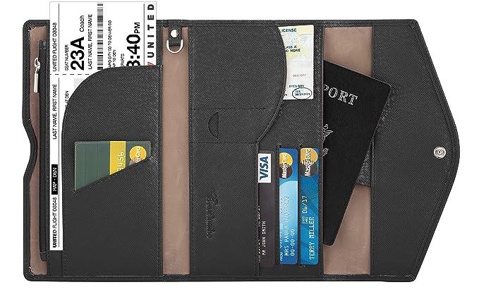 5b524ead39 Travelambo Rfid Blocking Passport Holder Wallet   Travel Wallet Envelope  (black)