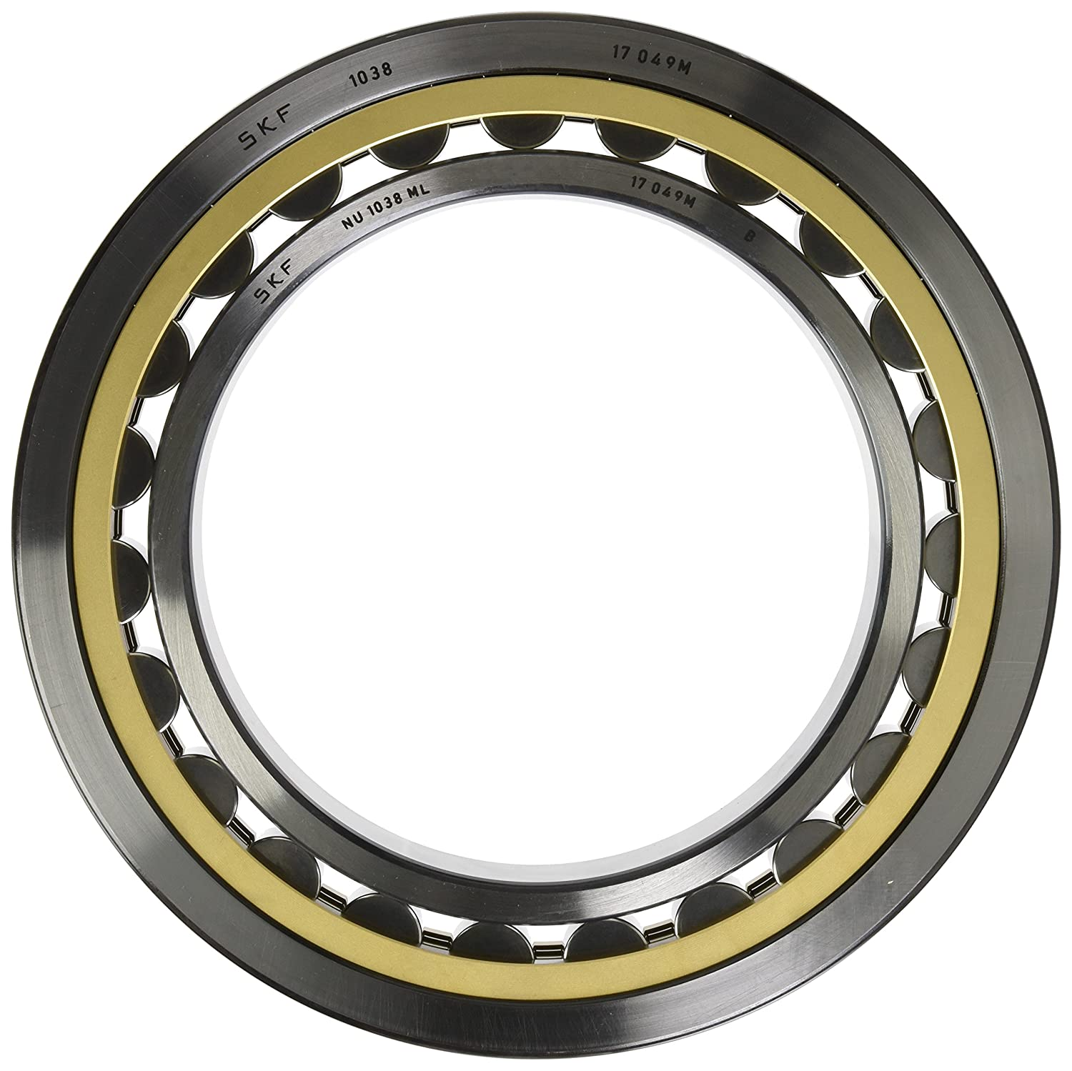 120mm Width 240mm Bore Straight Bore Single Row Removable Inner Ring Brass Cage Normal Clearance SKF NU 2248 MA Cylindrical Roller Bearing 440mm OD Standard Capacity Metric