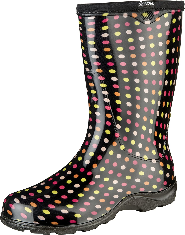 Sloggers 5017PDM11 Floral Collection Women's Rain & Garden Boot, Size 11, Multicolor