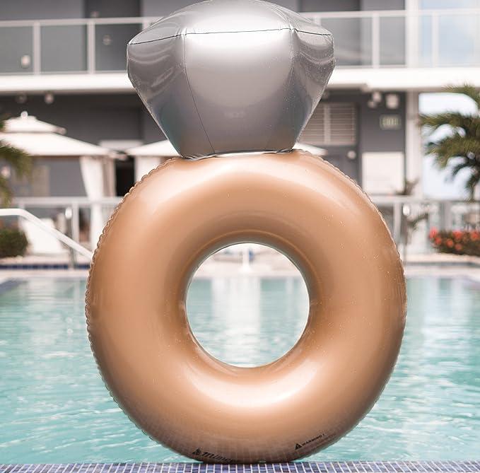 Mimosa Inc anillo de compromiso hinchable Premium calidad gigante piscina flotador: Amazon.es: Deportes y aire libre