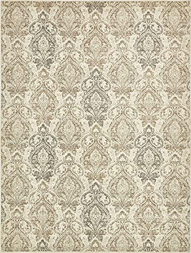 Unique Loom Tuareg Collection Vintage Distressed Traditional Beige Area Rug 9 0 x 12 0