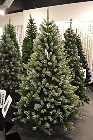 Premier 7ft (210cm) Mountain Snow Fir Christmas Tree: Amazon.co.uk ...