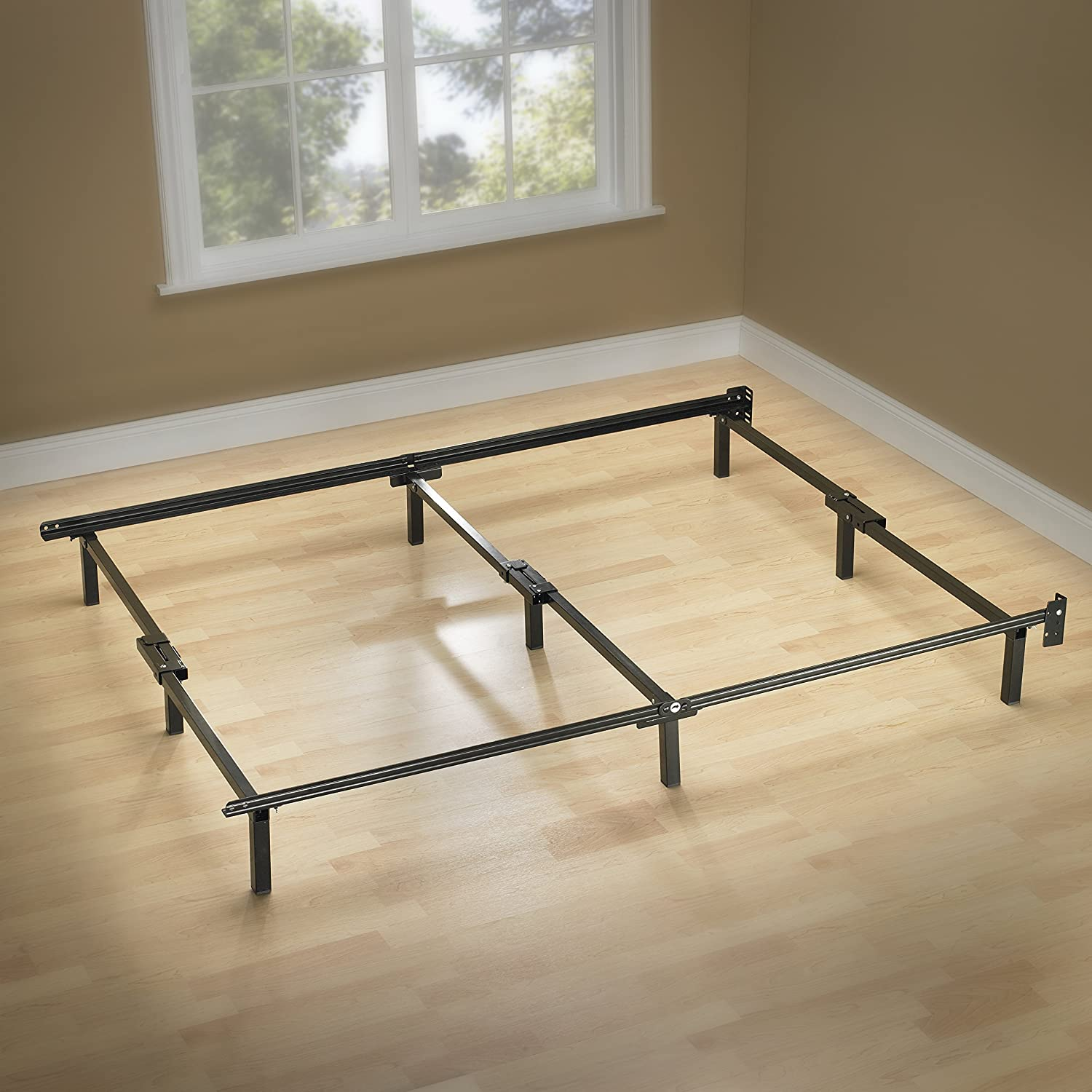 Zinus Compack 9-Leg Support Bed Frame, for Box Spring & Mattress Set, Queen