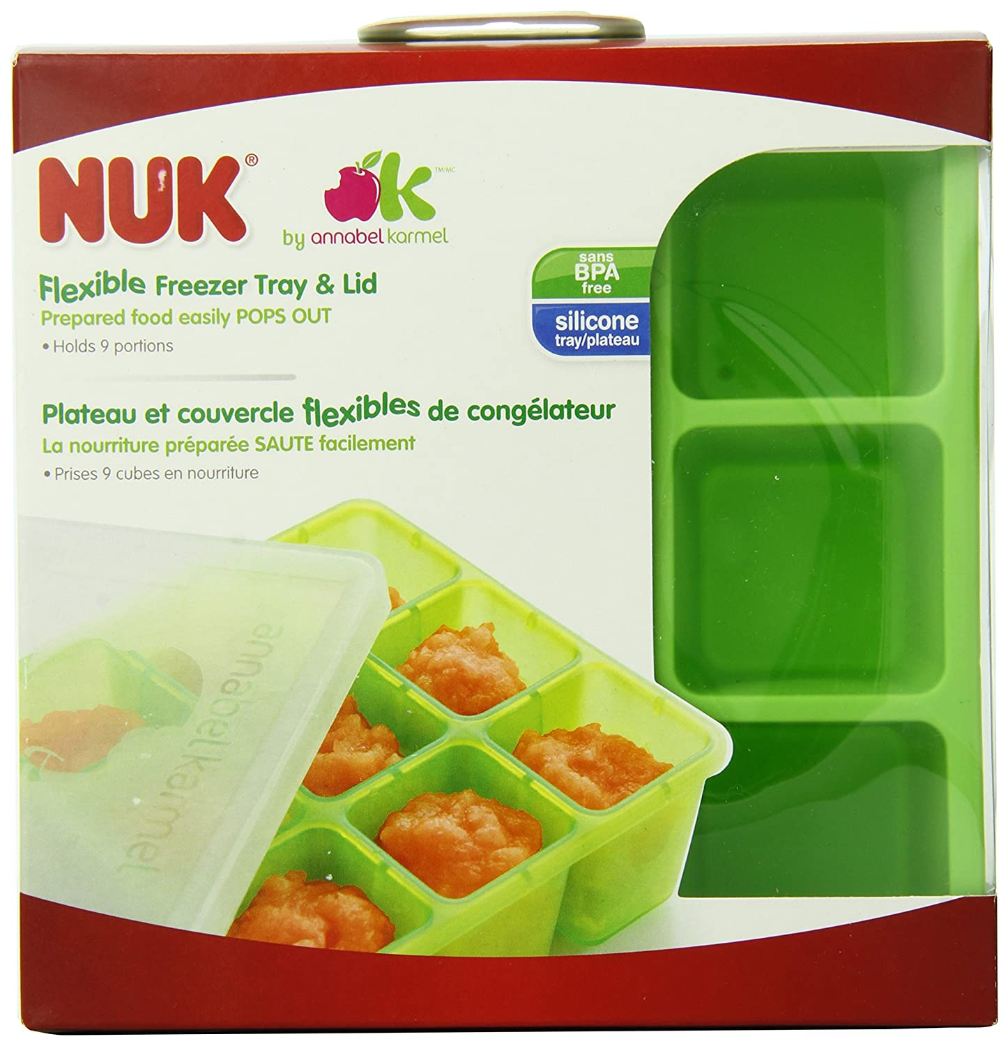 NUK Homemade Baby Food Flexible Freezer Tray and Lid Set 78961