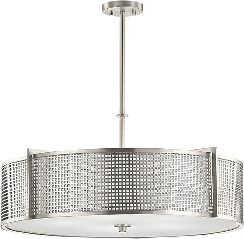 Kichler 48115NI Perforated 5-Light Round Pendant, Brushed Nickel