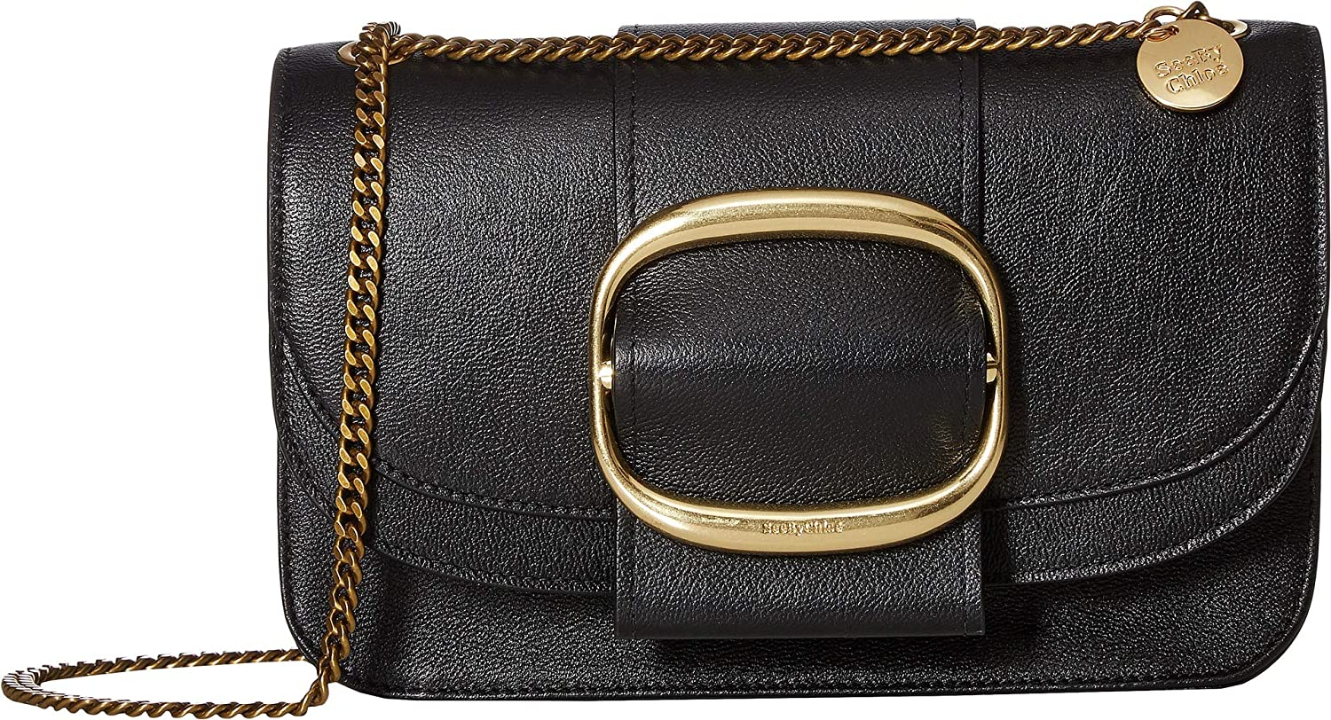 569d65e185 Amazon.com: See by Chloe Women's Hopper Medium Crossbody Black One ...