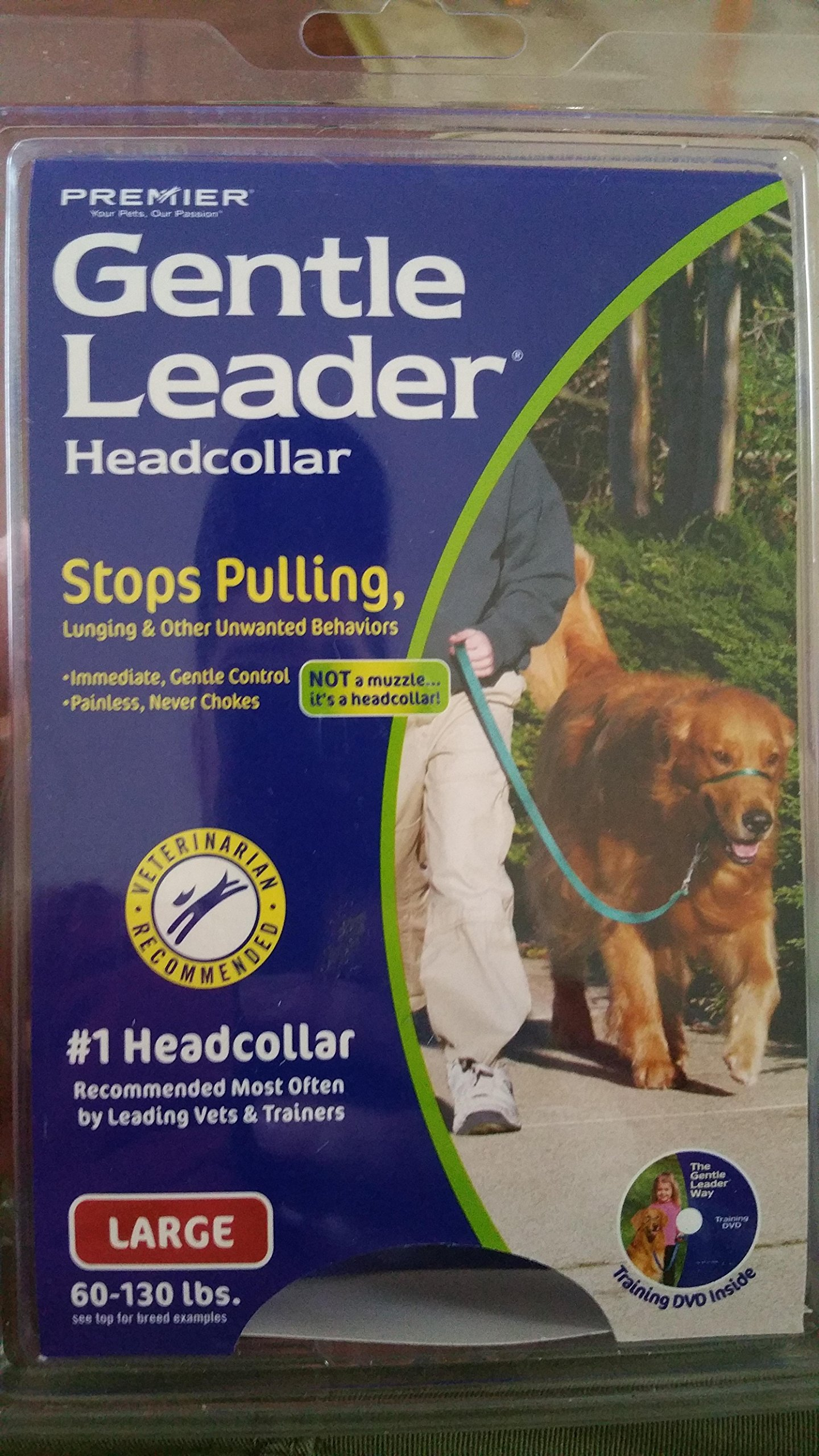 Gentle Leader Quick Release Headcollar: Large, Red