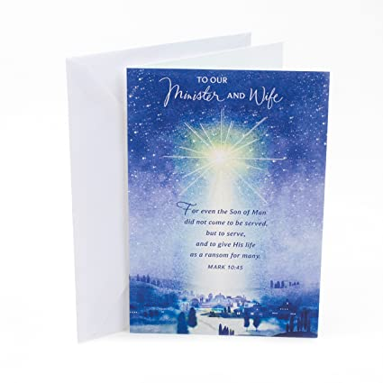 Beautiful Religious Christmas Cards.Dayspring Religious Christmas Card For Minister And Wife Touched So Many Lives
