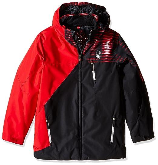 3b6590ba8 Spyder Boys Ambush Jacket, Size 14, Black/Formula/Space