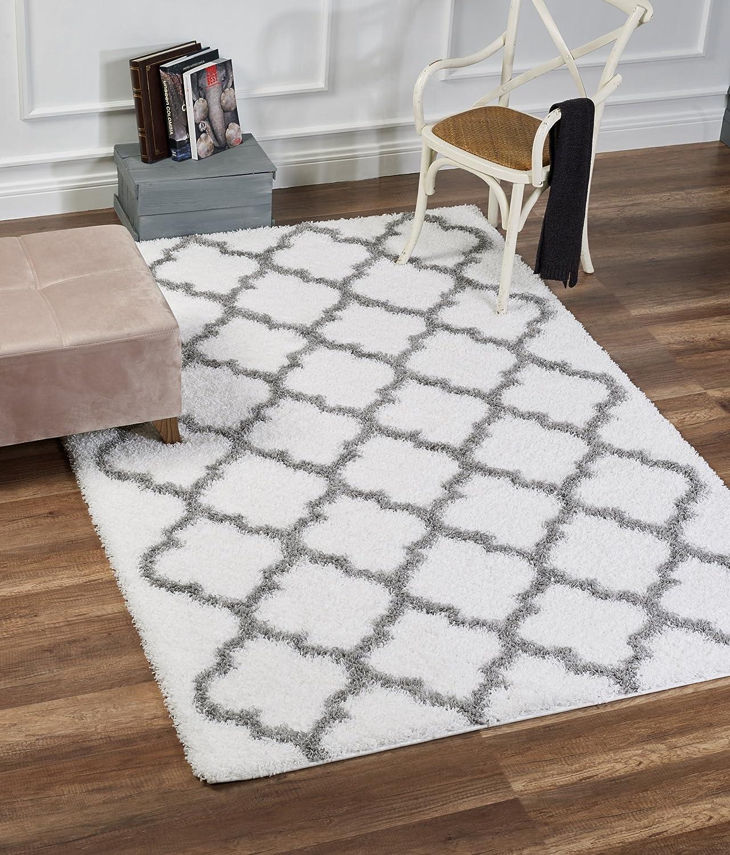 Dillman Rugs Area White Grey 4x6 Floor Rugfluffy Karpet Shaggy Premium 160x230 Turkiye Simple Living Roomdining Roombedroomthick Kitchen Dining