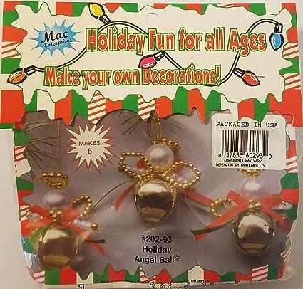 Amazon Com Holiday Angel Ball Beaded Christmas Ornament Craft Kit