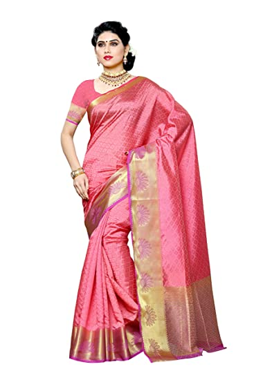61300b2c1c Mimosa Women's Tassar Silk Saree With Blouse Piece  (2060-2D-Gaj-Lev,Gajjari,Free Size): Amazon.in: Clothing & Accessories