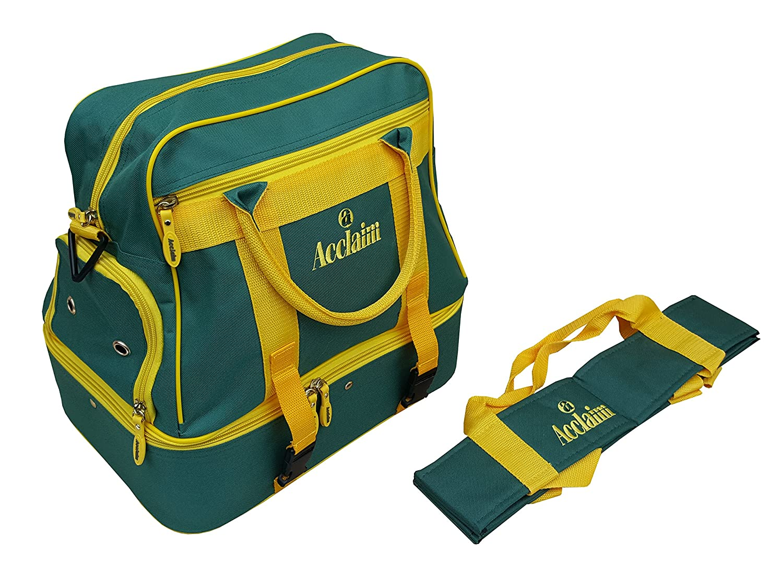 Acclaim Farne Nylon Four Bowl Level Lawn Flat Green Short Mat Bowls Bag And Four Bowls Carrier