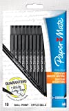 Paper Mate White Bros Ball Pen Medium Tip 1.0mm - Black (Pack of 10)