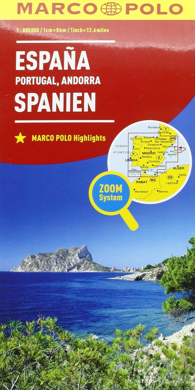 Spagna. Portogallo 1:800.000 Carte stradali Marco Polo: Amazon.es ...