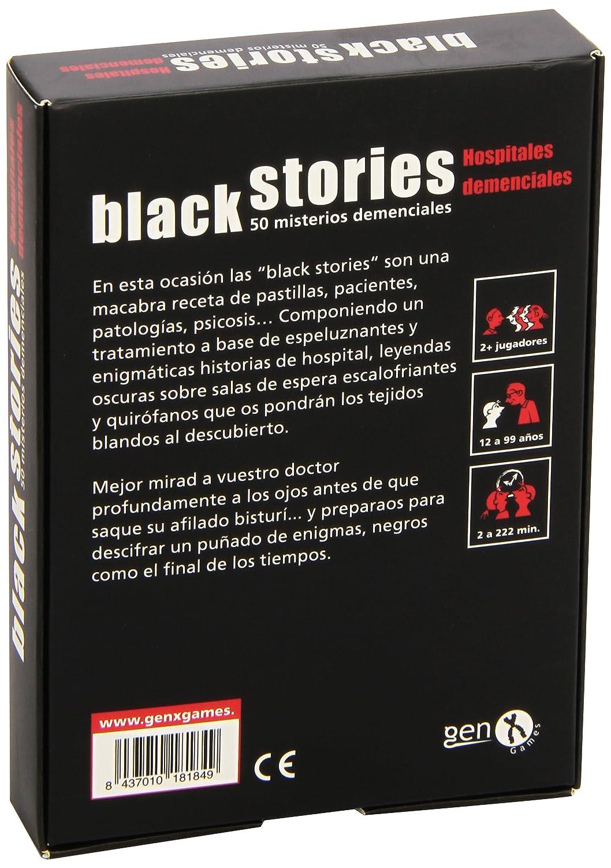 Black Stories - Hospitales Demenciales, Juego de Mesa (Gen-X Games GEN043)