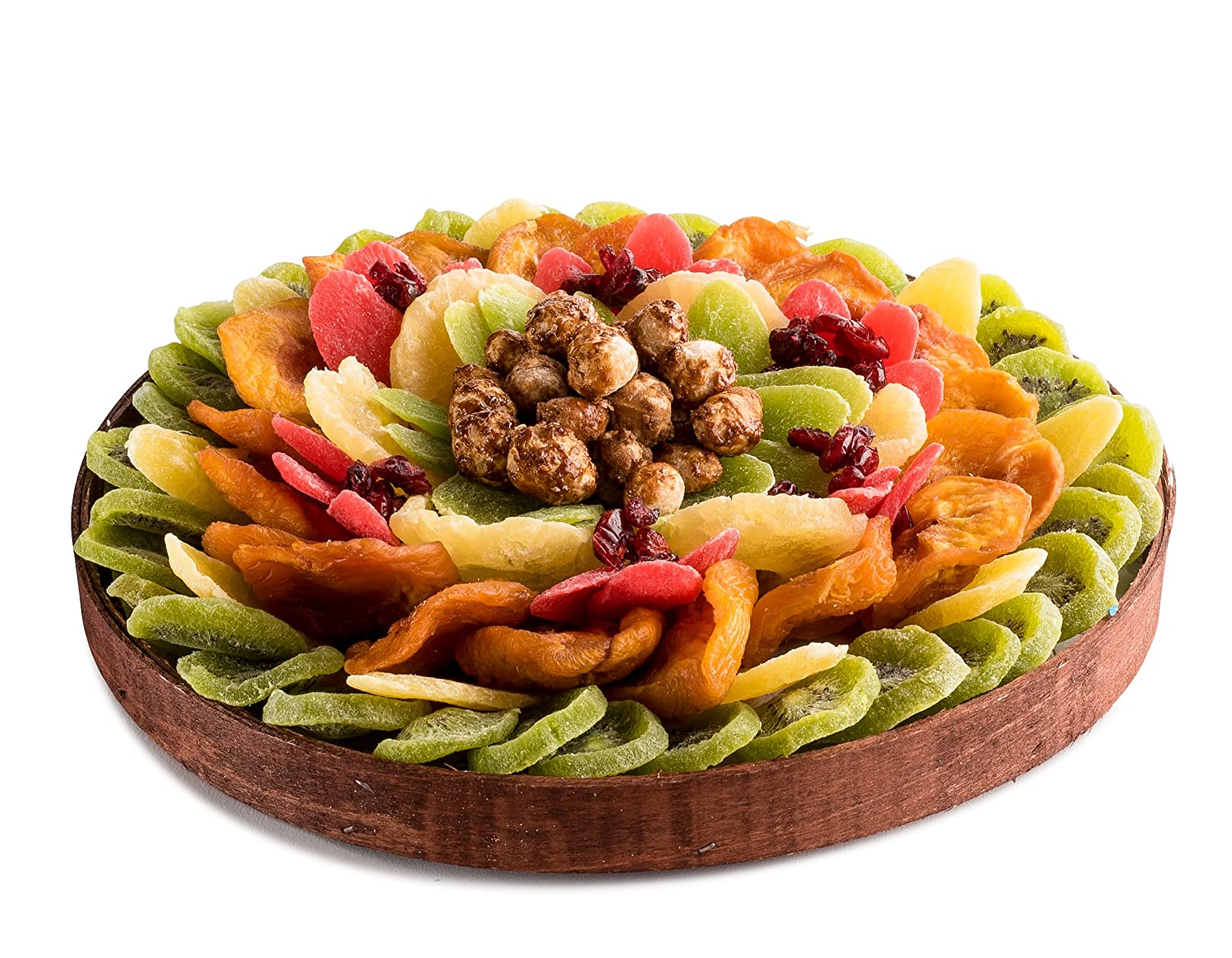 The Nuttery Premium Dried Fruit and Nuts Classic Circular Holiday Gift Platter