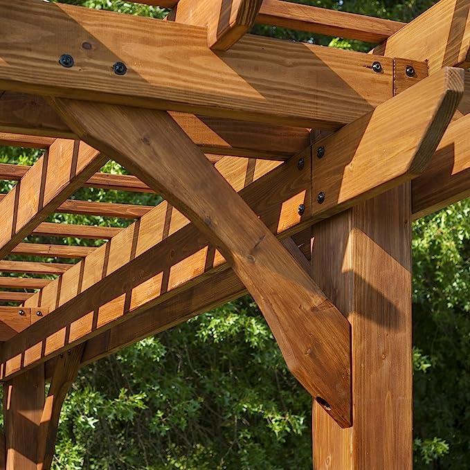 Backyard descubrimiento Cedar Pergola: Amazon.es: Jardín