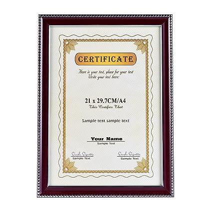 Document Frame Certificate Standard Paper Frame A4 Size