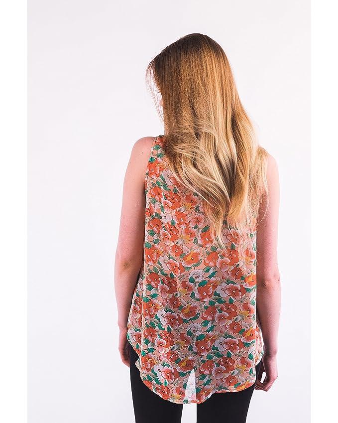 ... elegante de chifón de camiseta de manga corta/blusa/costura para camisetas de mujer/Summer de desgaste de diseño de playa: Amazon.es: Ropa y accesorios