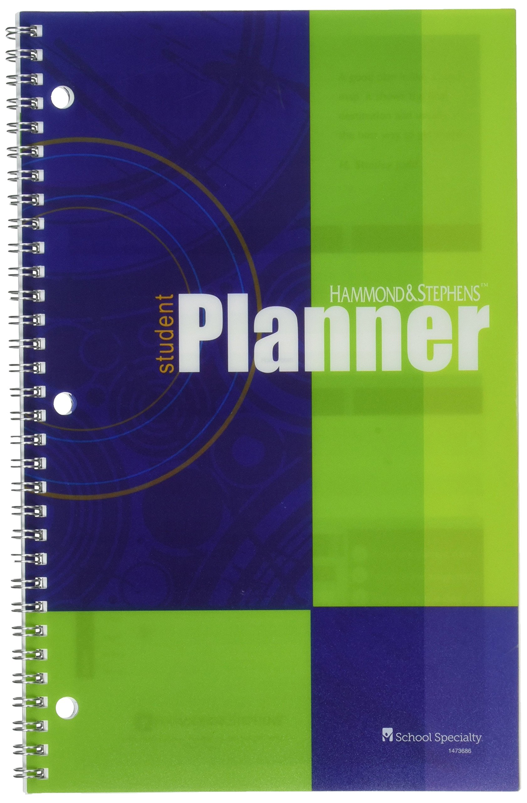 Hammond and Stephens 522155 Undated Weekly Student Planner, 7'' x 11'' Size