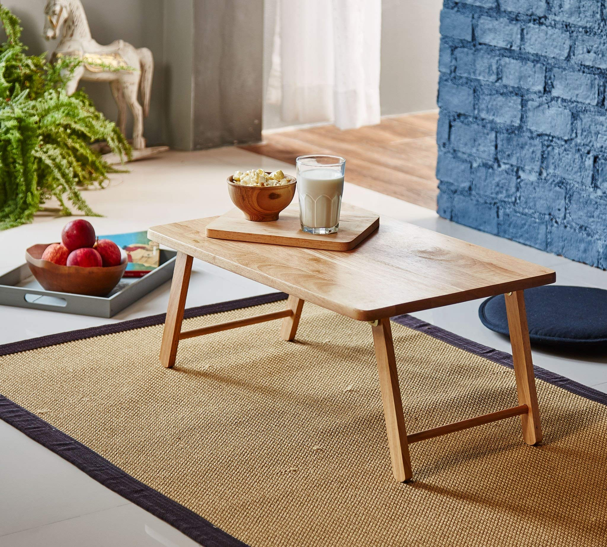 PJ Wood Foldable Laptop Desk and Bed Tray Table - Natural by PJ Wood
