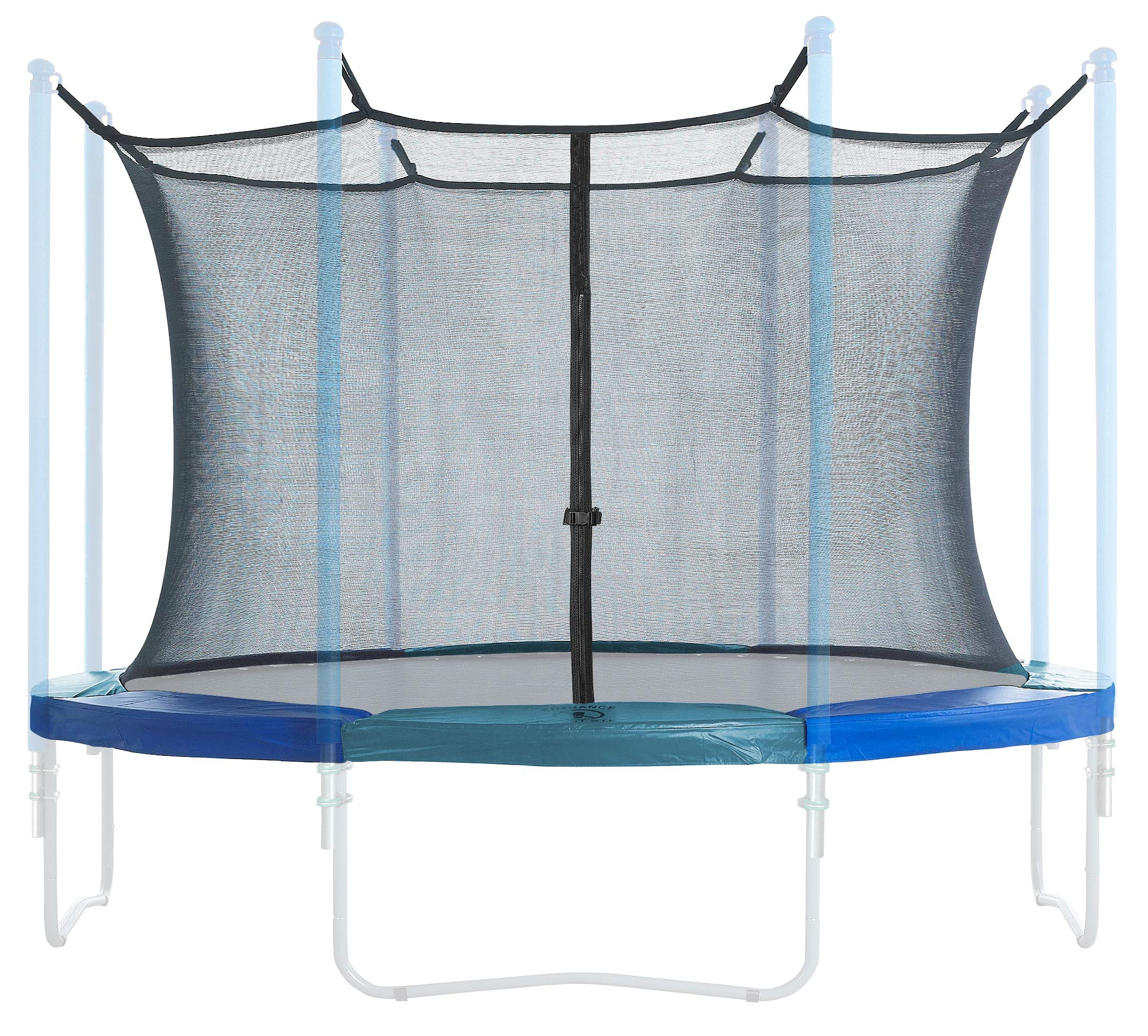 Trampoline Enclosure and Safety Pad Set | Round Frame Safety pad 15 Foot | 6 Poles or 3 Arches | Inside Enclosure Safety net |Spring Cover |Universal Fit | Outdoor Trampoline | Blue/Green Pad ♂