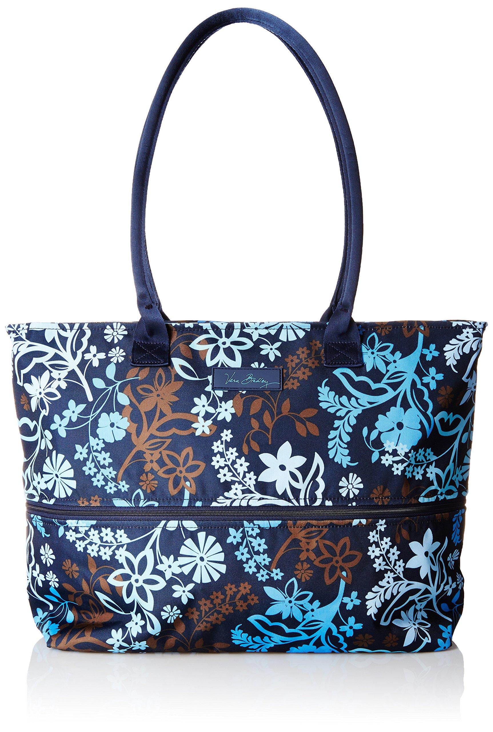 Vera Bradley Women's Lighten up Expandable Travel Tote, Java Floral