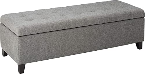 Christopher Knight Home Mission Fabric Storage Ottoman, Grey