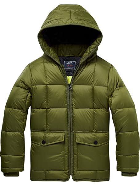 amp; Quilted Chaqueta Soda Scotch Padded Para Square With Jacket Hood dqTwSt