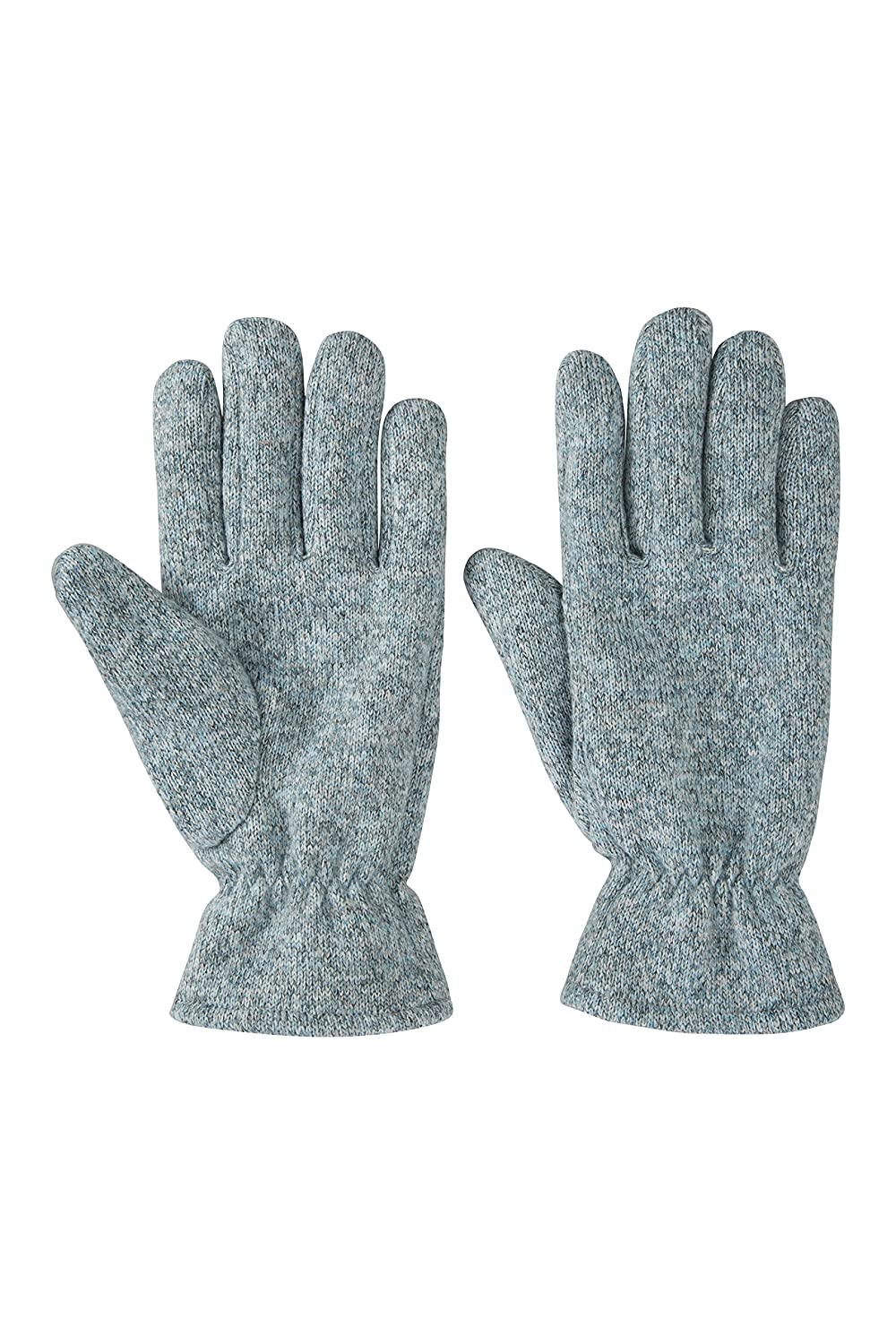 Mountain Warehouse Nevis Women's Fleece Gloves - Lightweight, Soft & Cosy Fleece Fabric with Elasticated Cuffs - Ideal for Travelling & Everyday Wear in Winter Grey 024753024001