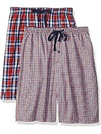 Hanes Mens Men's 2-Pack Woven Pajama Short Pajama Bottoms