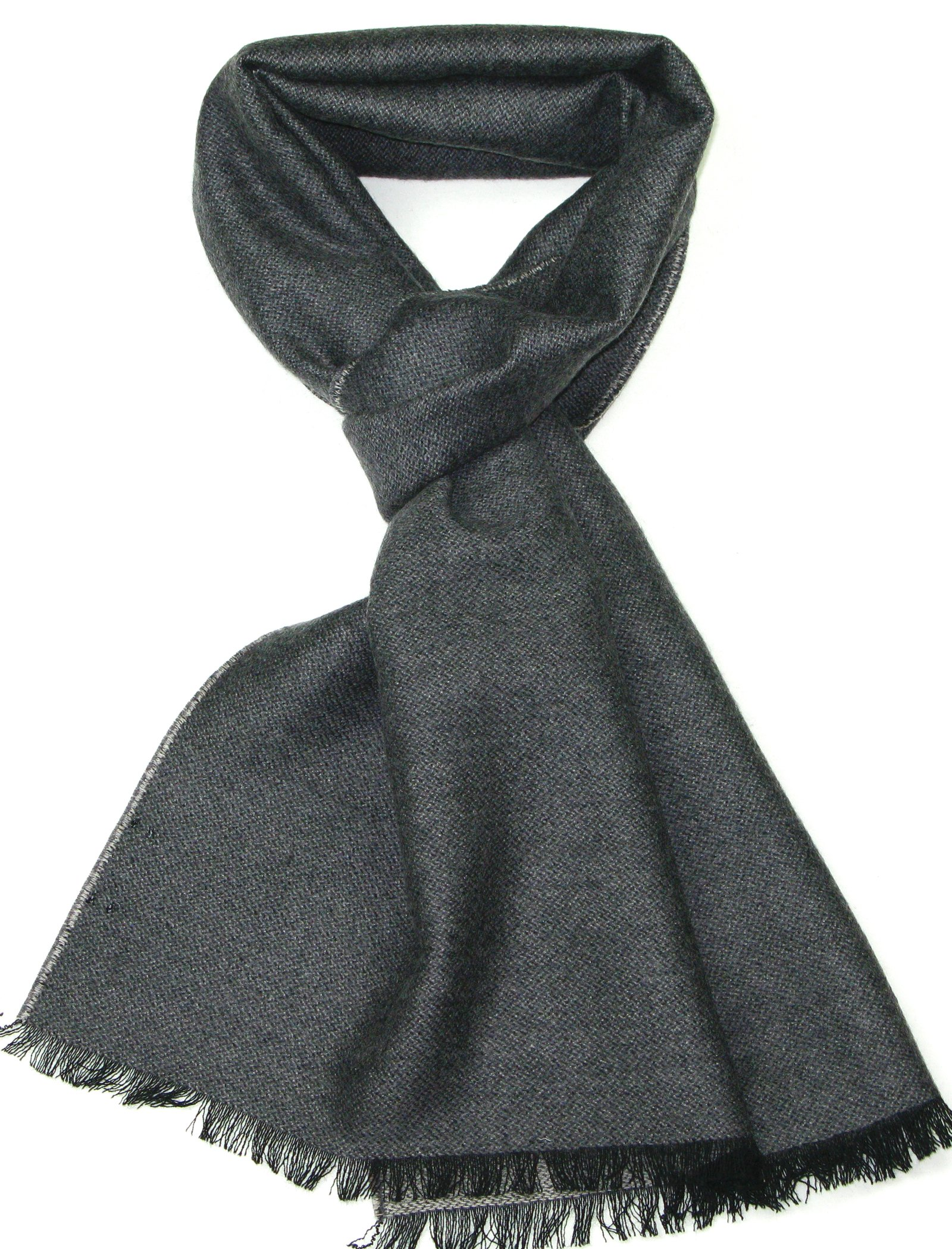 Mens and Womens Grey Merino Wool Scarf - Luxury Winter Scarves - Christmas Gifts