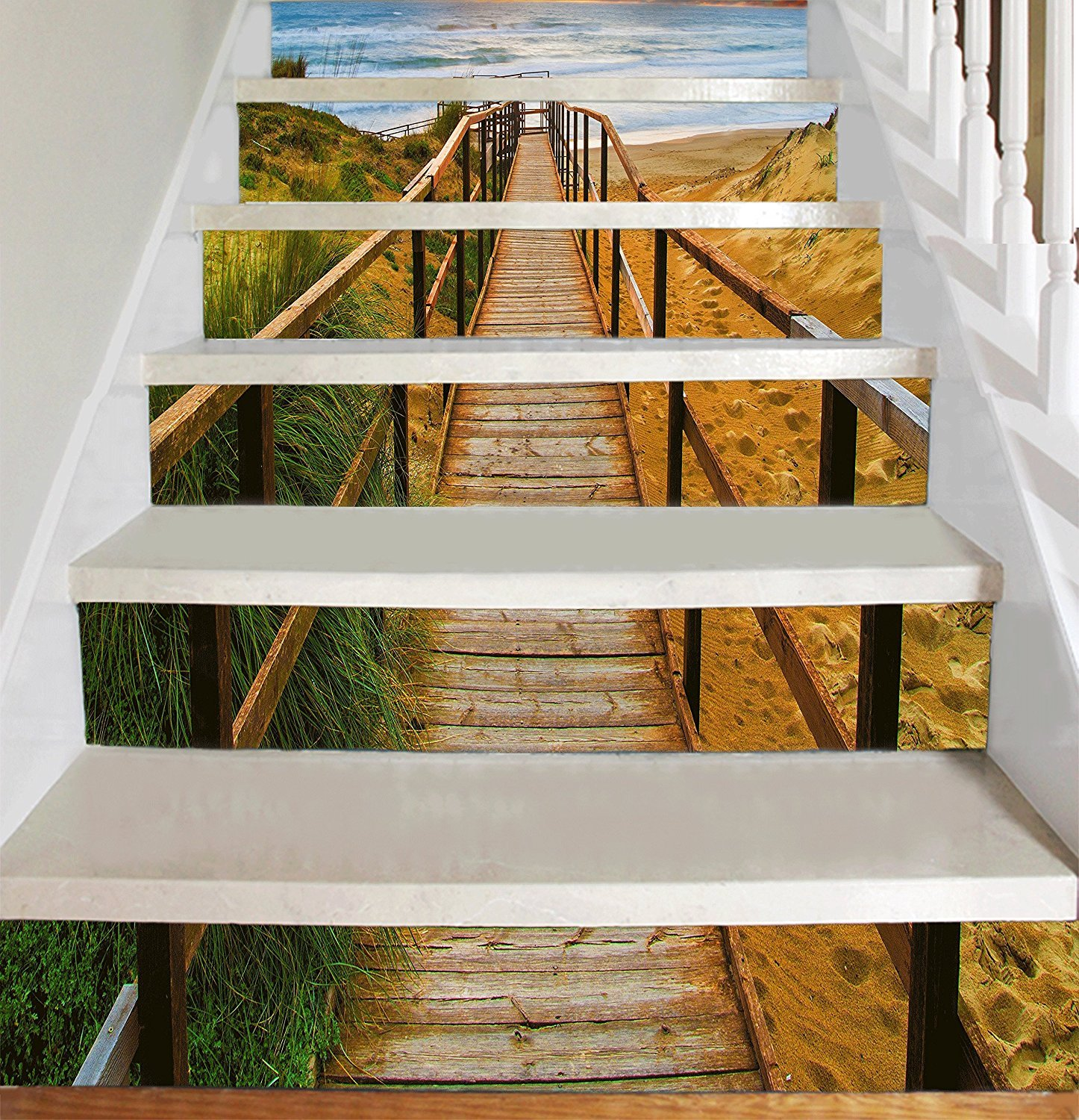Amazon Vinyl Decal Strips for Stair Risers Stairway to Sea