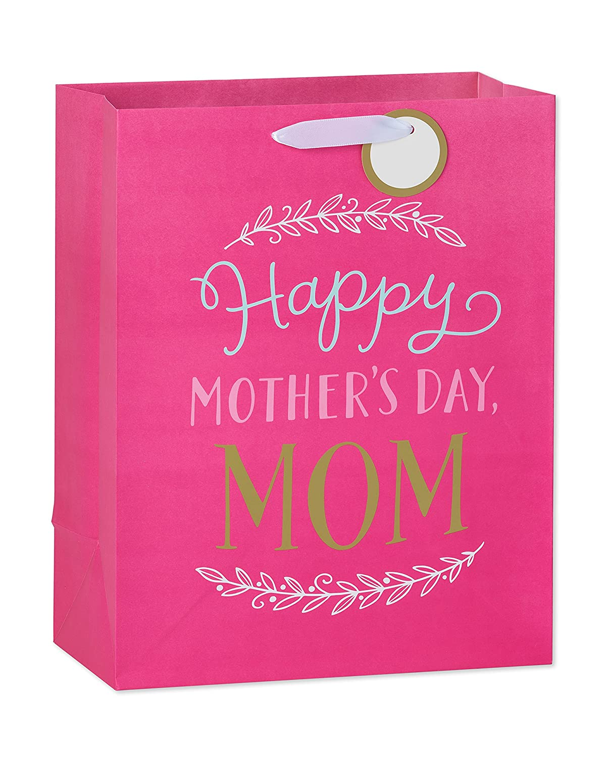 American Greetings Medium Mother's Day Gift Bag, Pink Happy Mother's Day