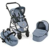 Bayer Chic 2000 637 50 Emotion All in 3 in 1 Doll's Pram. Colour: blue denim