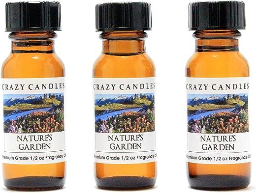 Amazon Com Crazy Candles Natures Garden 3 Bottles 1 2 Fl Oz Each