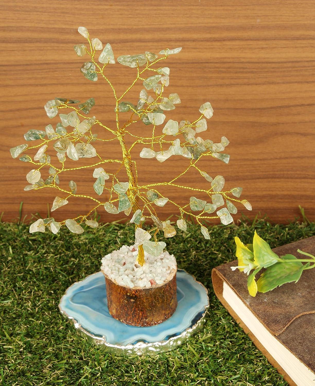 Cartbug Green Jade Gemstone Bonsai Money Gift Tree Crystal Cleansing Reiki Healing Feng Shui Prosperity Stones /& Crystals Positive Energy Gem Figurines Good Luck Chakra Balancing 7-8 Inch Golden Wire