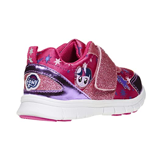 459beb15d0a Amazon.com | My Little Pony Stylish, Cute Shoes; Girls Glitter Strap Kids  Sneakers Size 5-13 | Shoes