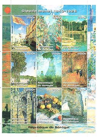 Sellos de Arte - Claude Monet Sellos de la filatelia: Amazon.es: Electrónica