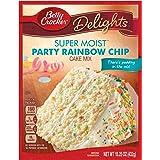 Betty Crocker Super Moist Cake Mix, Rainbow Chip, 15.25 oz