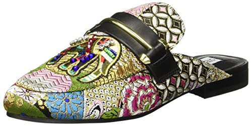 Steve Madden Kera, Mocasines (Loafer) para Mujer, (Black Multi Patchwork 001
