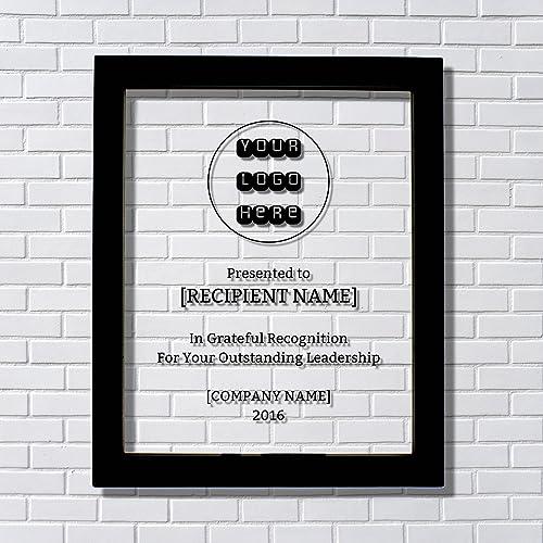 Amazon Com Leadership Award Floating Award Plaque Framed In