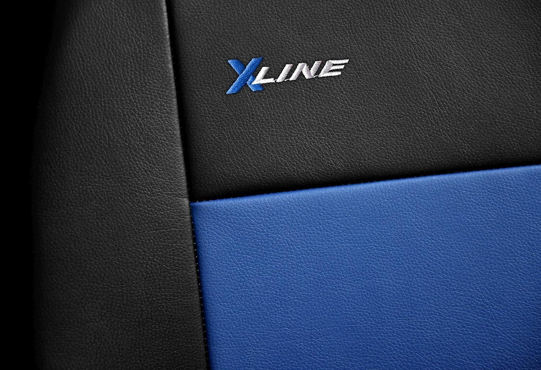 X-Line Azul Fundas Asiento Coche Delanteros Fundas Asientos con Sistema de Airbag