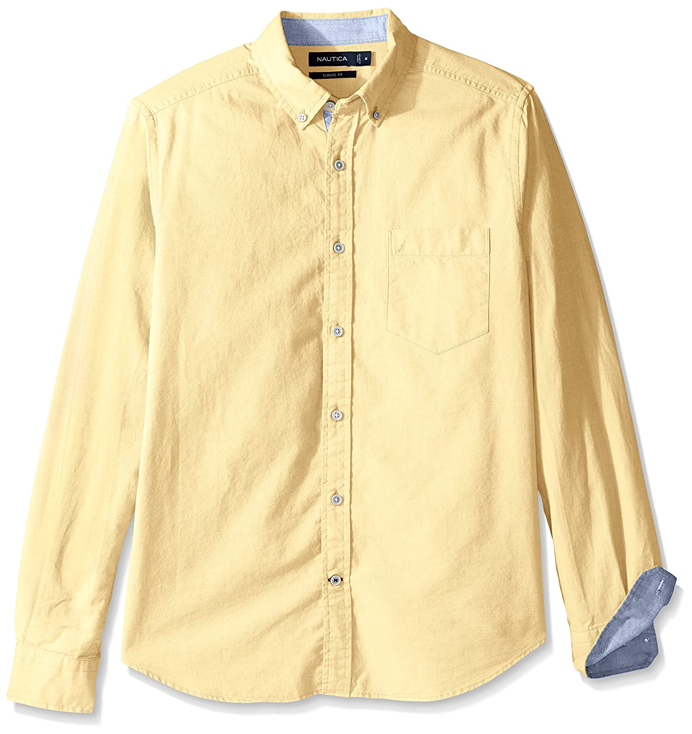 Nautica Long Sleeve Button Down Solid Oxford Shirt