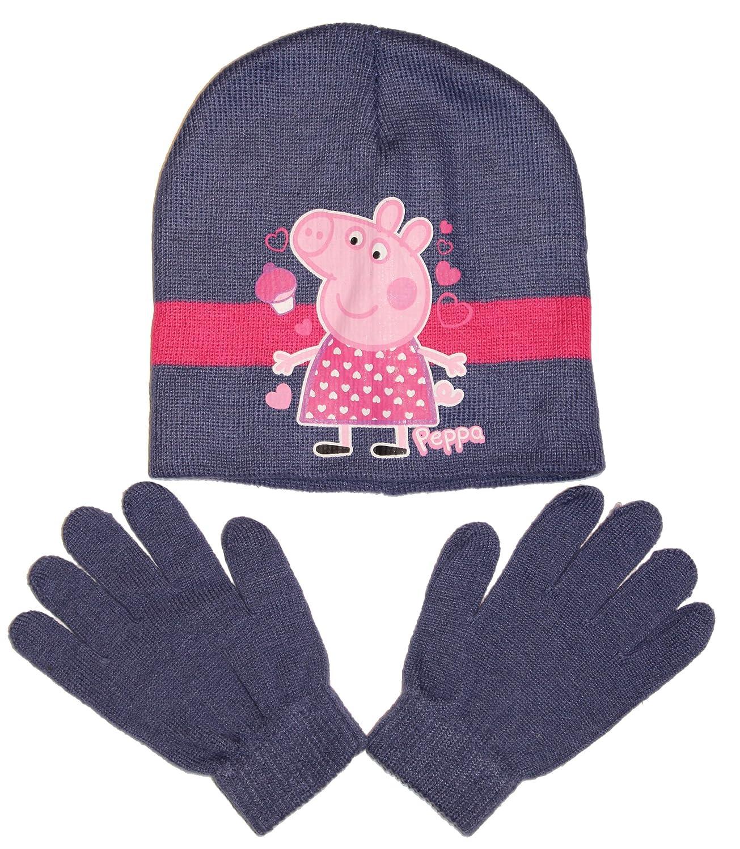 Peppa Pig Mütze & Handschuhe Set in verschiedenen Farben & Größen (HO4179)