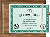 Walnut Finish Certificate Plaque with Gold Slide-in Frame
